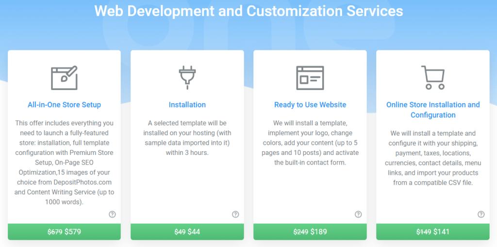 TemplateMonster, MonsterOne - service pricing