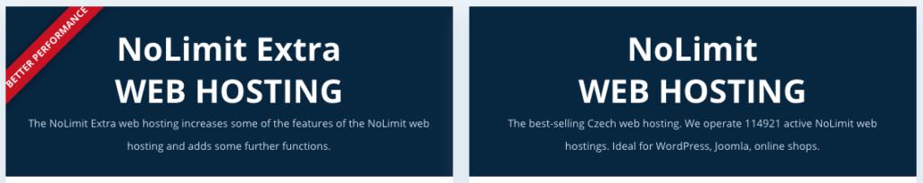WEDOS áttekintés: webtárhely-tervek