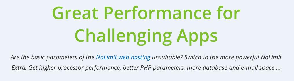WEDOS áttekintés: web hosting NoLimit Extra