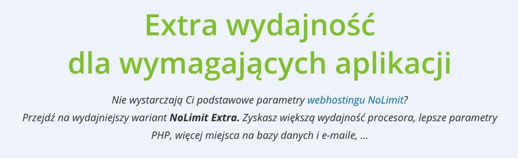 Recenzja WEDOS: hosting NoLimit Extra