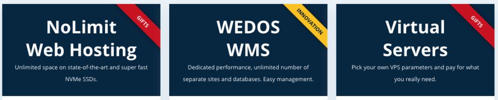 WEDOS áttekintés: szolgáltatások