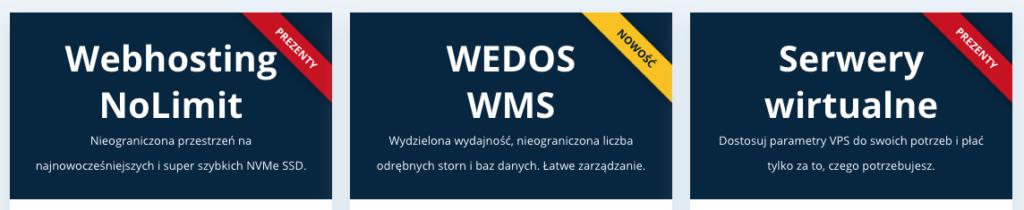 Recenzja WEDOS: usługi