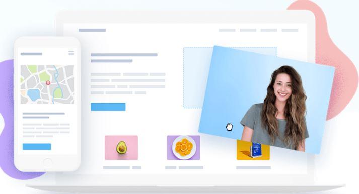 Drag&drop módszer a weboldalak létrehozásához.
