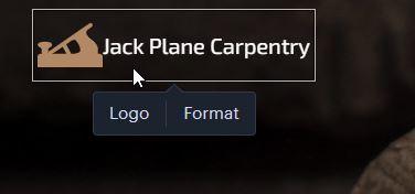 Weboldal logójának szerkesztése.