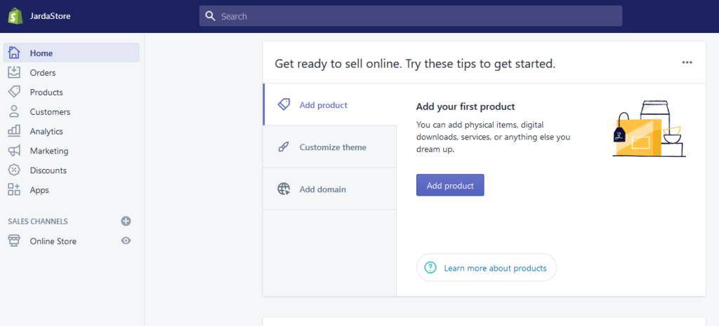 shopify main features administration