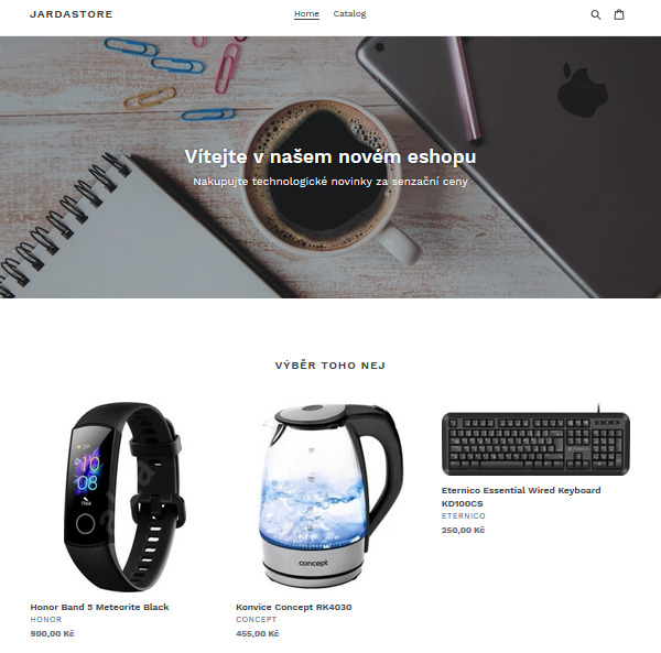 Preview of the final version of my e-shop.